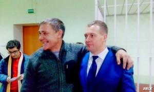 Evgeny Vitishko With Lawyer Sergey Loktev (Photo by: Anna Mikhailova, courtesy of http://ewnc.org/)