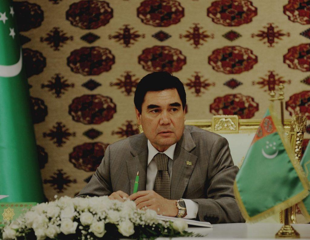 Picture of Turkmen president Berdymukhamedov